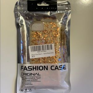 iPhone 5/5S/SE Case Rose Gold shavings clear case